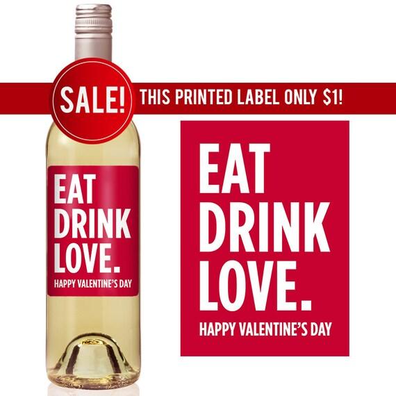 Valentine\u0027s Day Wine Label Valentine Gift Ideas Etsy