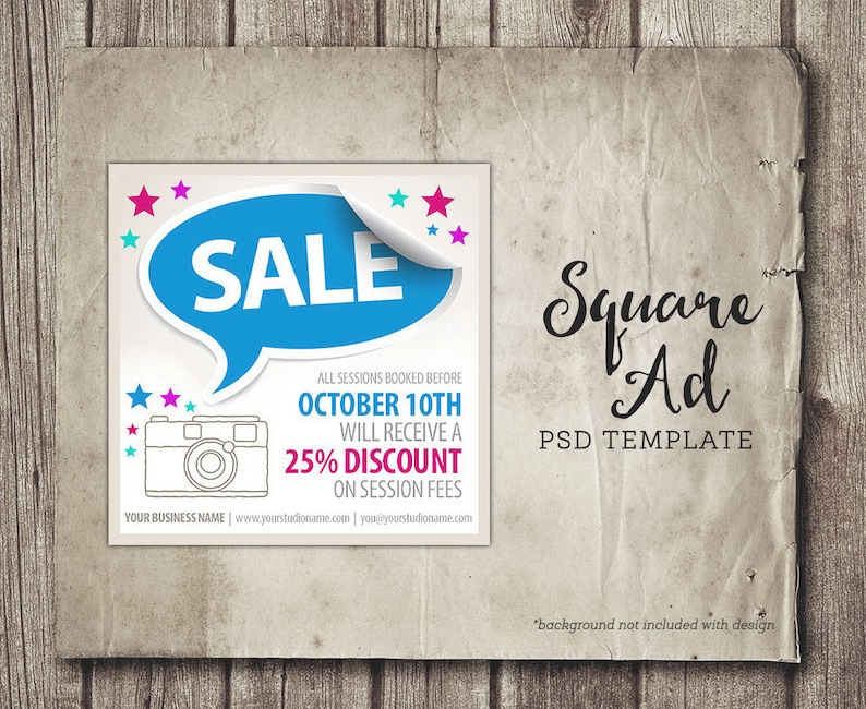 Business Sales Ad for Facebook Sale Discount Advertisement Etsy