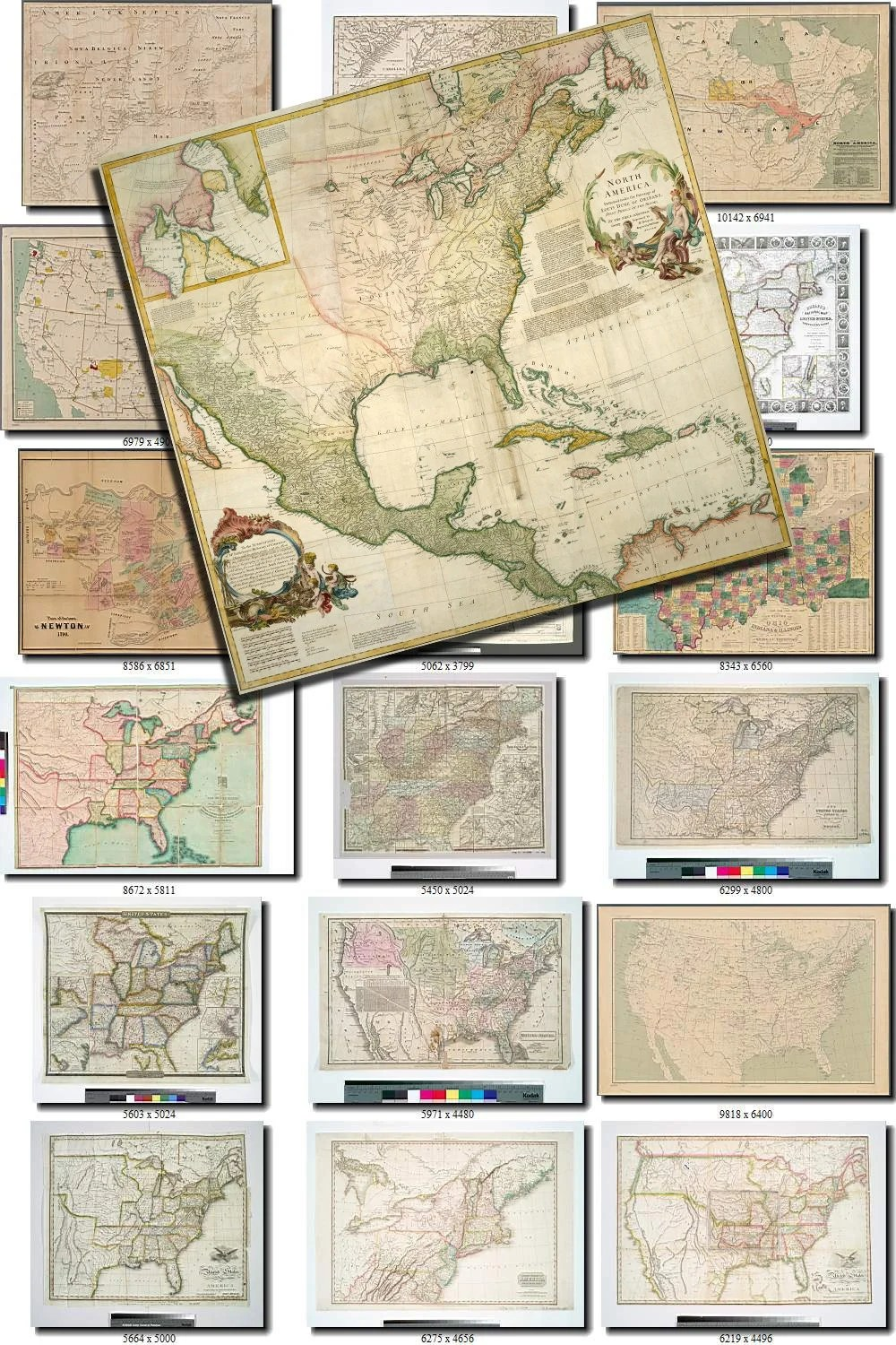 Etsy Vintage Old Maps | Antique Maps 17 Collection Of 105 ...