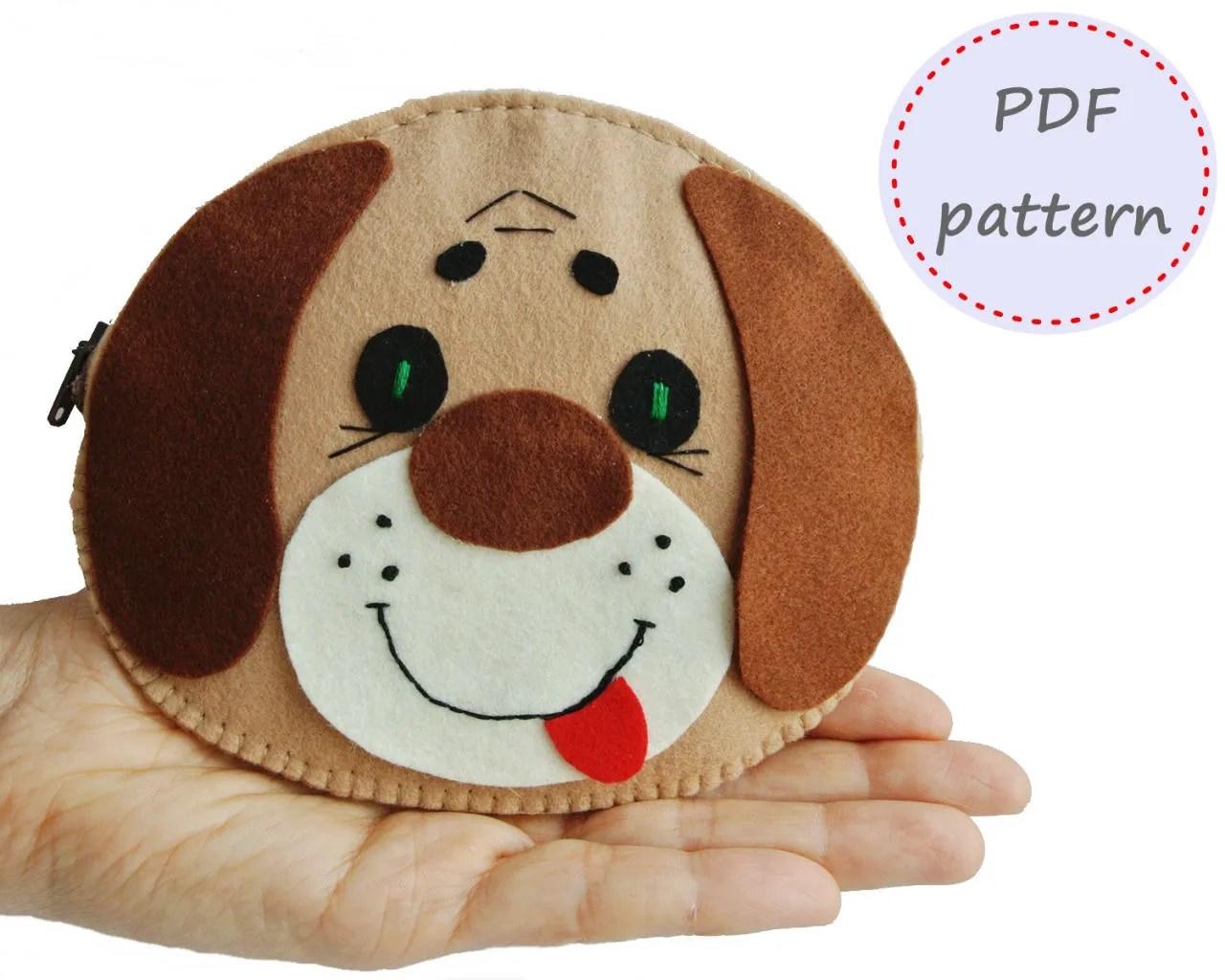 Felt Purse Dog For Kids Felt Purse Pattern Felt Pattern Etsy