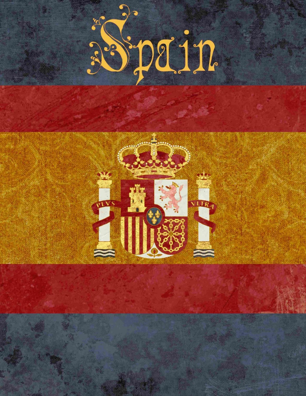 Spain Table Number for International or Travel themed Party Etsy