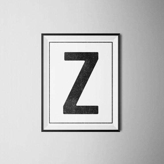 INSTANT DOWNLOAD Letter Z Printable Monogram art Etsy