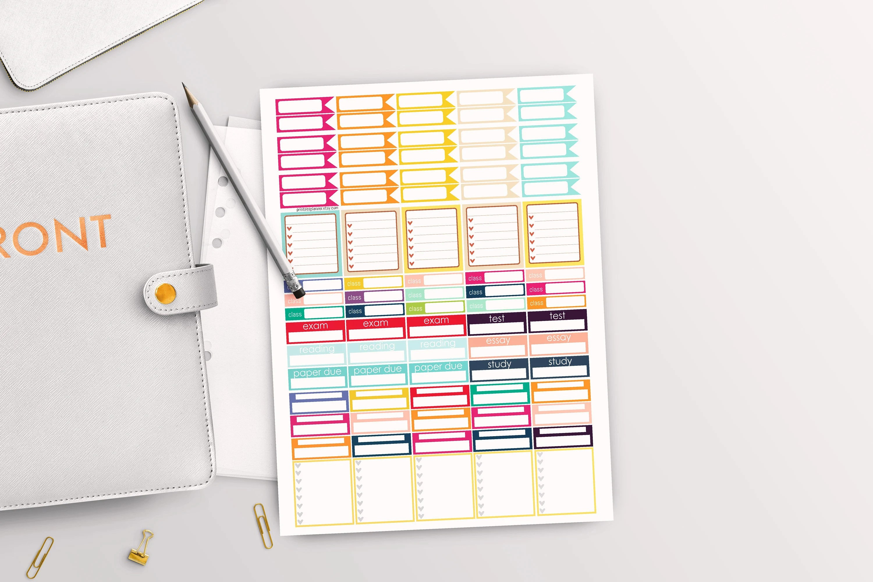 College Planner Stickers Daily Planner Student Planner Etsy