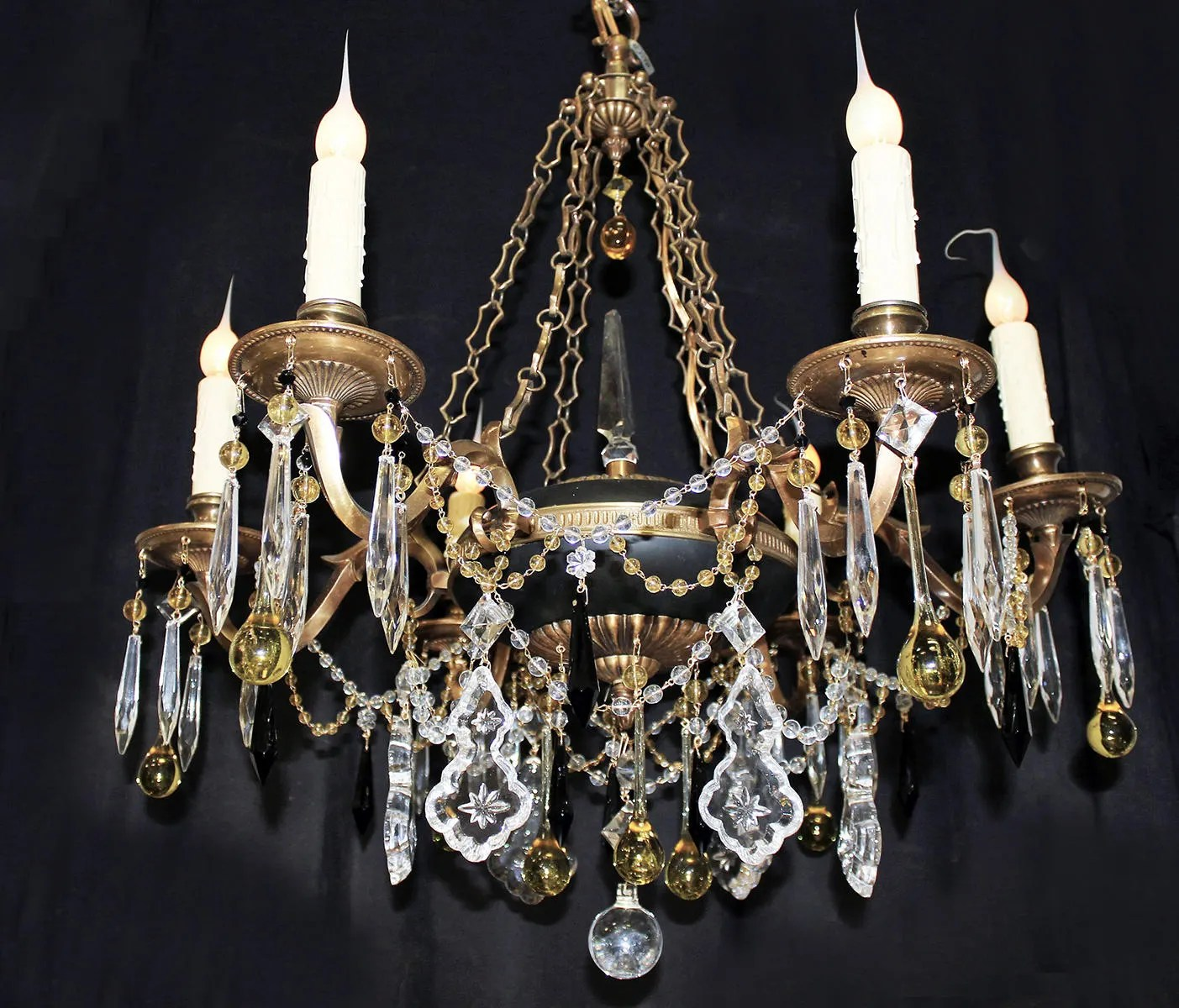 Spanish Chandelier Chandeliers Lighting Elegant 25x 27 Vintage 6 Light Spanish