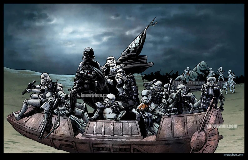 Vader Crossing the Delaware Etsy