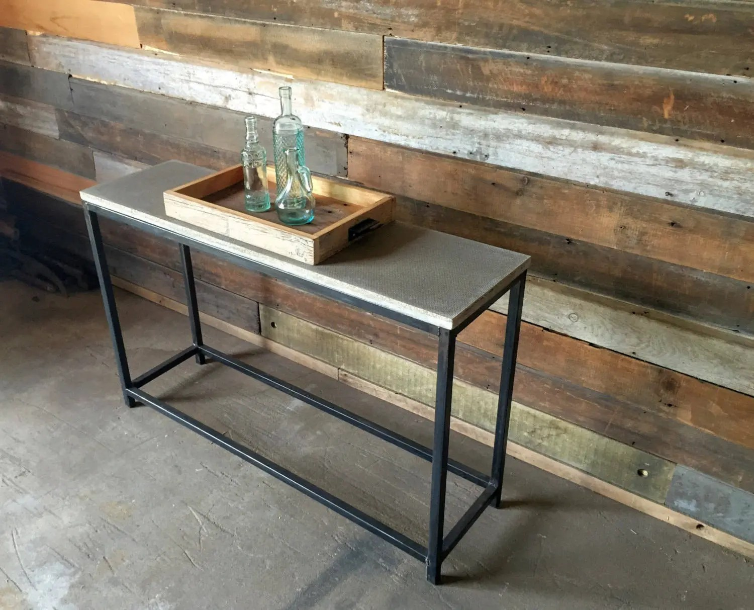 Console Table But Concrete Console Table Stoic Metal Frame Base