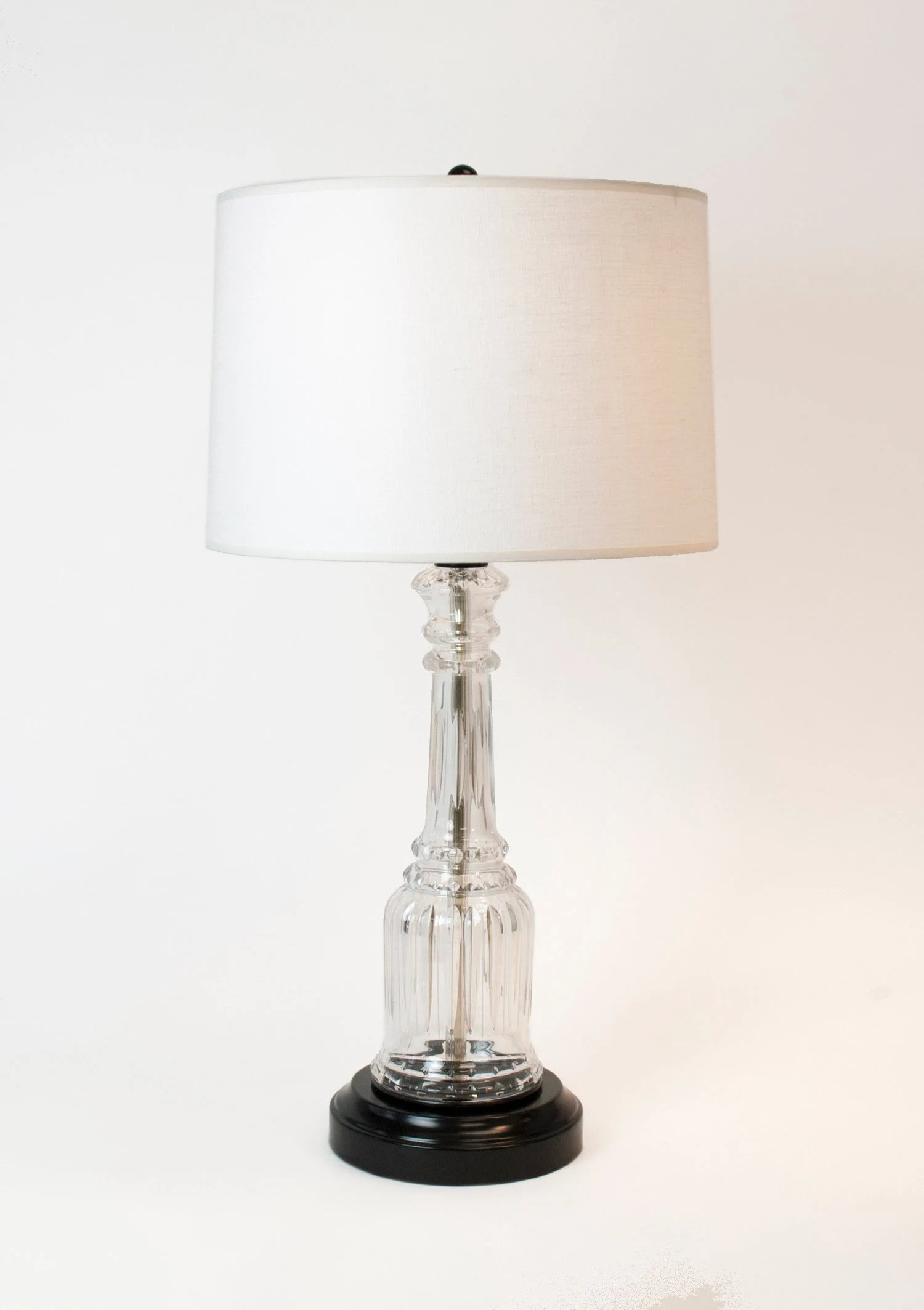 Crystal Lamp Cordless Vintage Crystal Lamp On Black Metal Rechargeable Battery Operated
