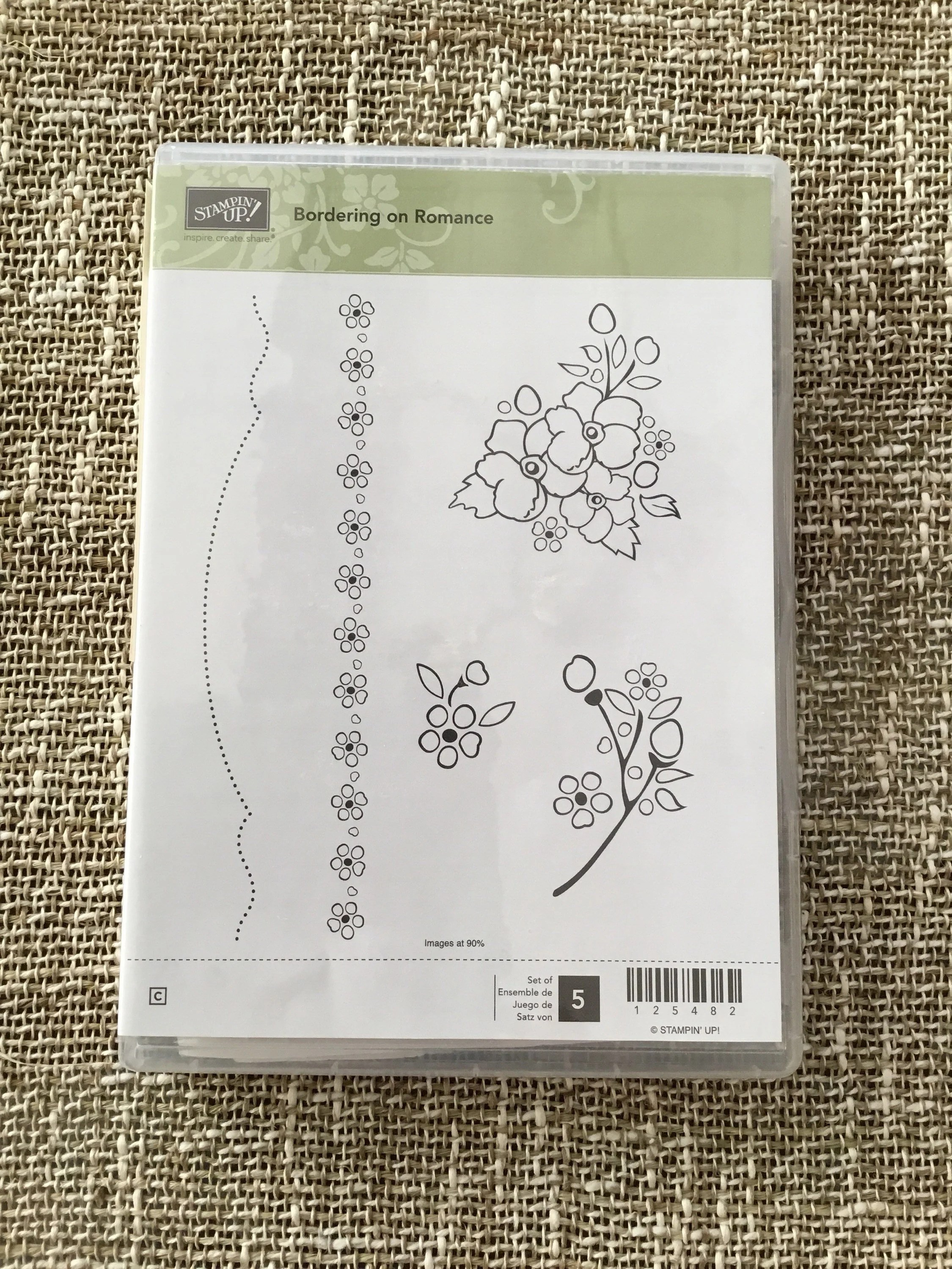 Stampin Up Karten Für Männer Stampin Up Bordering On Romance Rubber Stamp Set For Clear Mounts Unused Card Making Scrapbooking Flowers Borders Dainty