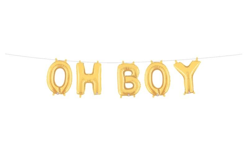 Boy Baby Shower Oh Boy Balloons Oh Boy Banner Boy Baby Etsy