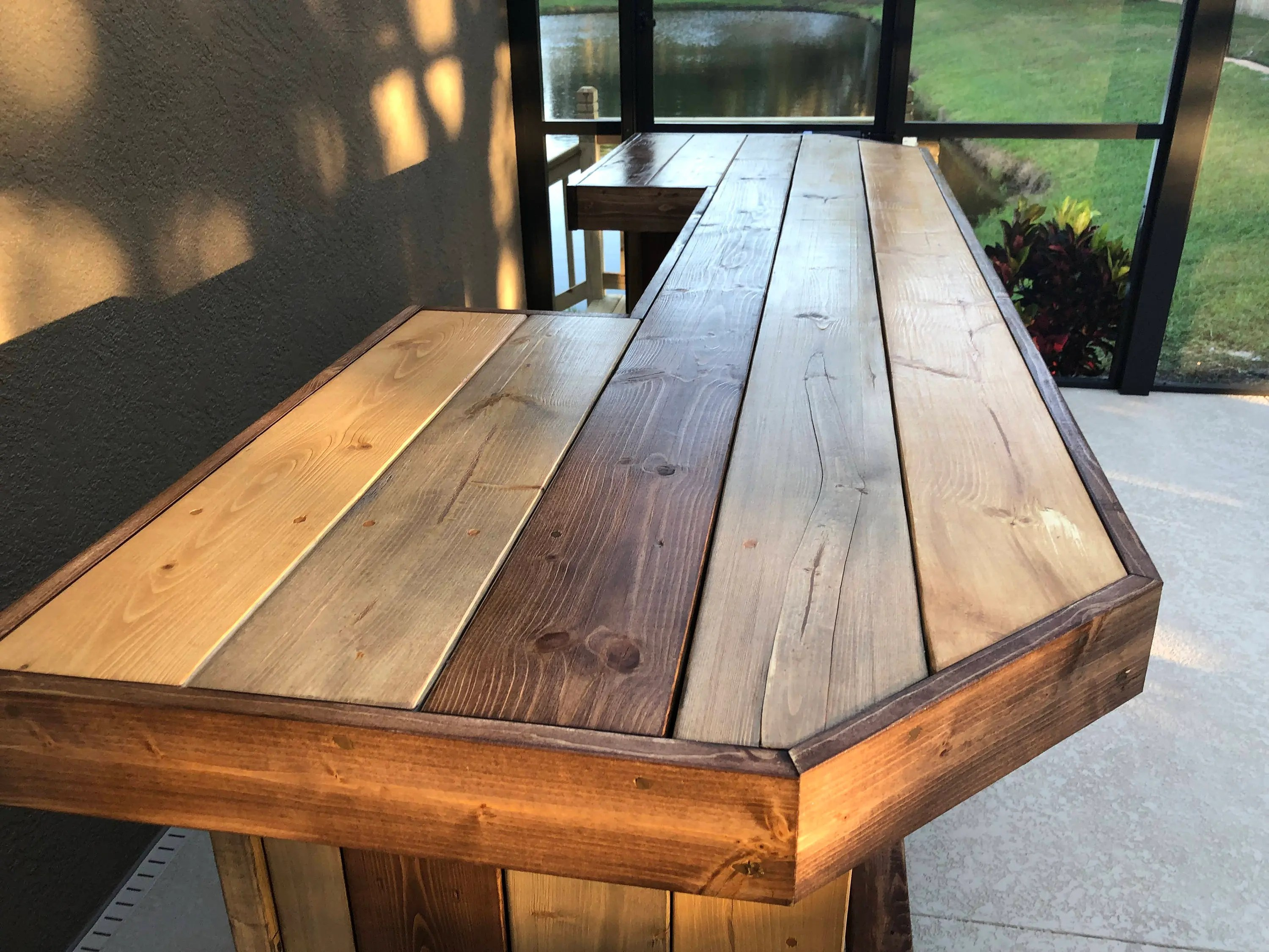 Rustic Style Bar The Plank Top Maggie 8 Rustic Finished Barnwood Or Pallet Style