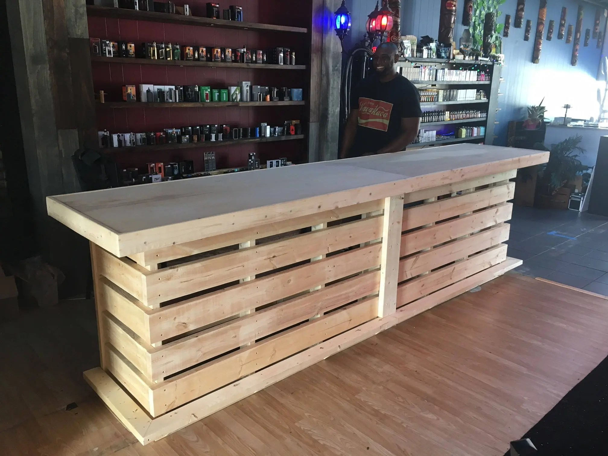 Rustic Style Bar The Whoadie Pallet Style Rustic Dry Bar Reception Desk Or Sales