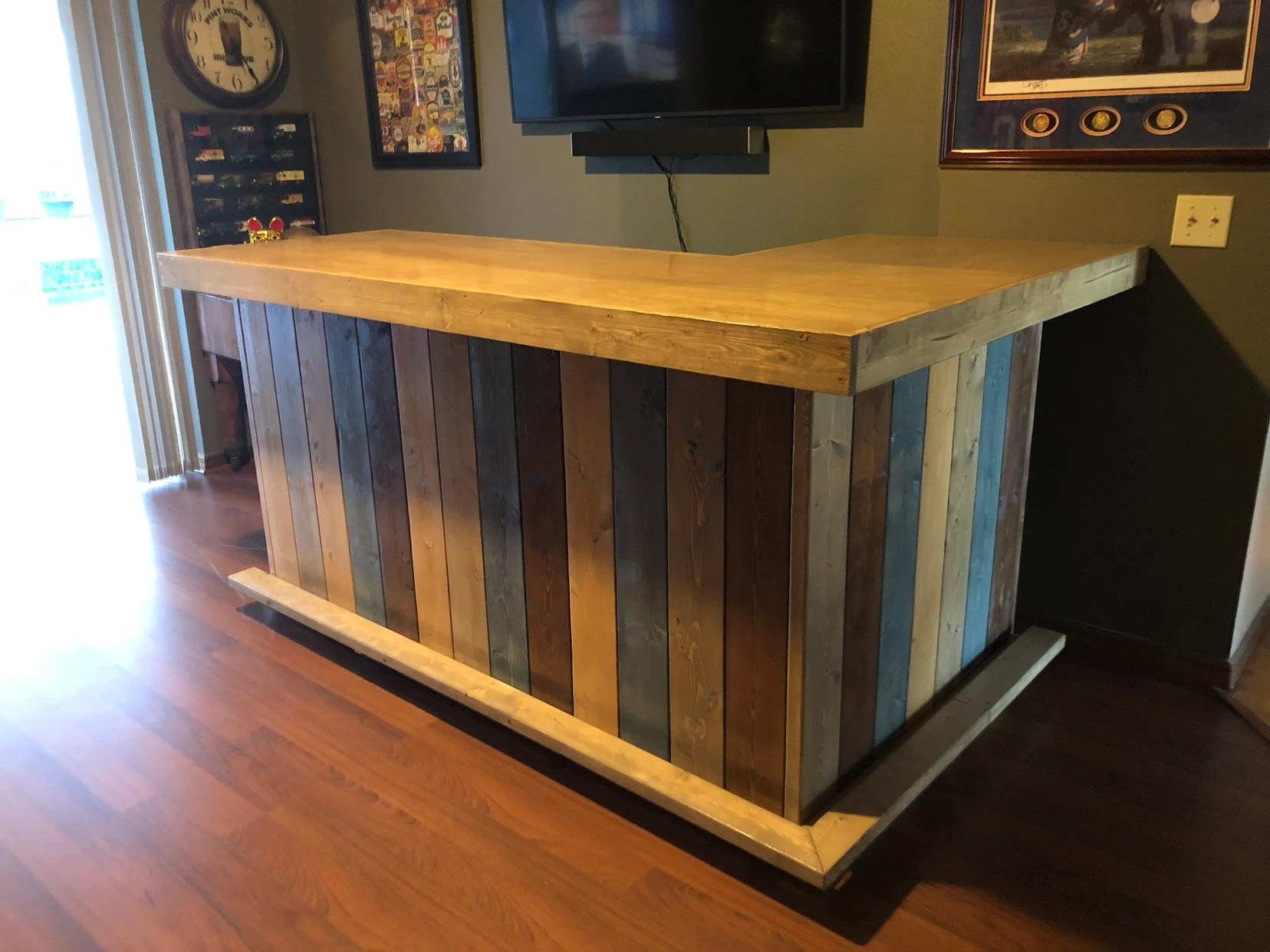 Rustic Style Bar The Rustic Blues Rustic Barn Wood Style Bar Sales Counter