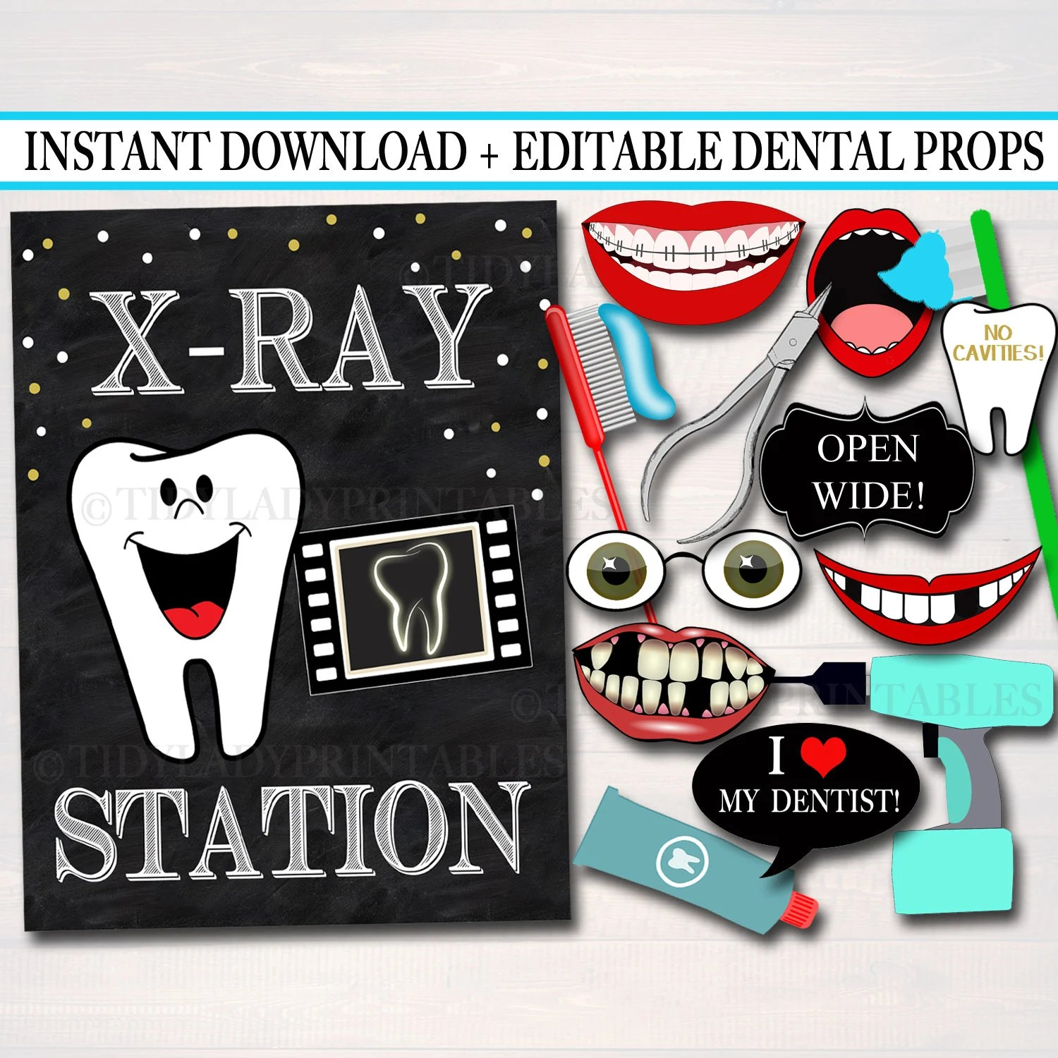 EDITABLE Dental Graduation Party Signs Printable Photo Booth Etsy