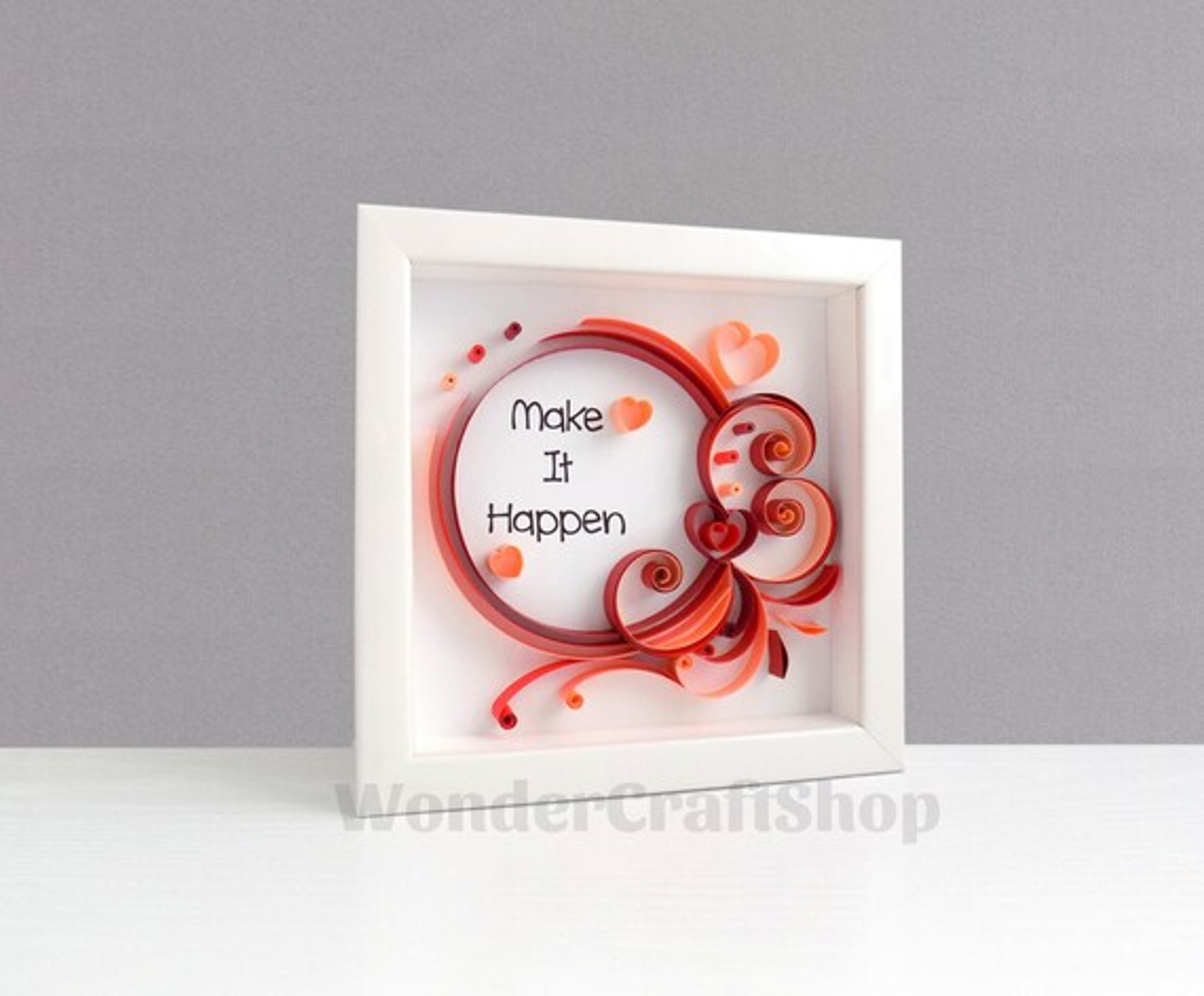 Make It Happen Quote, New Job Gift, Job Promotion Gift, Inspirational  Quote, Motivational Quote, Gift for Employee Employer, 3D Wall Art