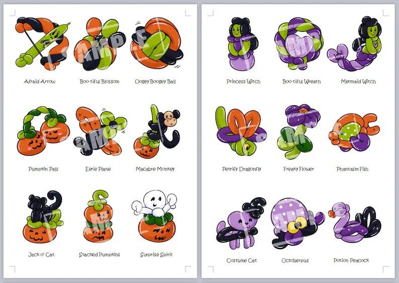 Balloon Twisting Halloween Fall Festival Holiday Bundle 12 Etsy