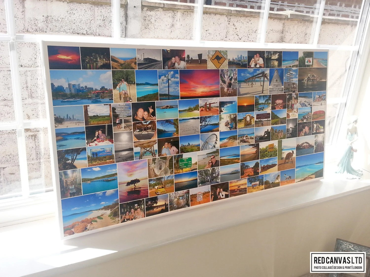 Fotocollage Auf Leinwand Foto Collage Leinwand Druck 20 X 40 Zoll Bis Zu 100 Fotos Premium Hand Made In Uk