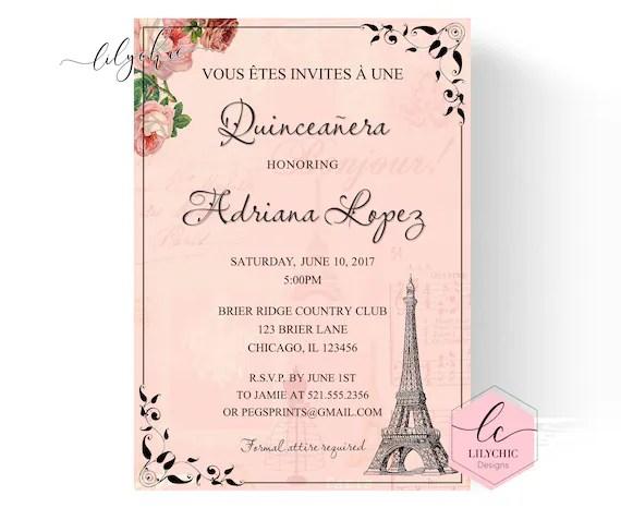 Paris Quinceaera Party Ideas T