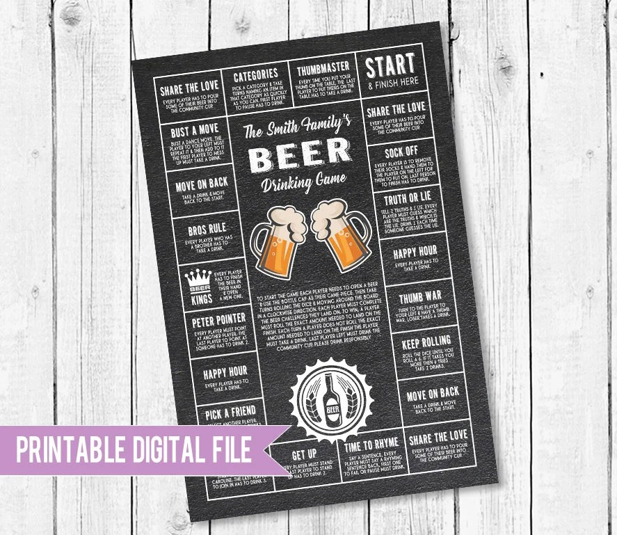 Beer game Gifts for him Beer Decor Gifts for dad drinking Etsy