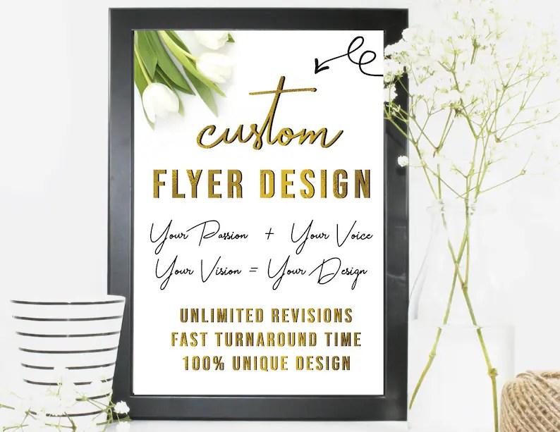 Custom Flyers Flyer Designs Business Flyers Flyers Online Etsy