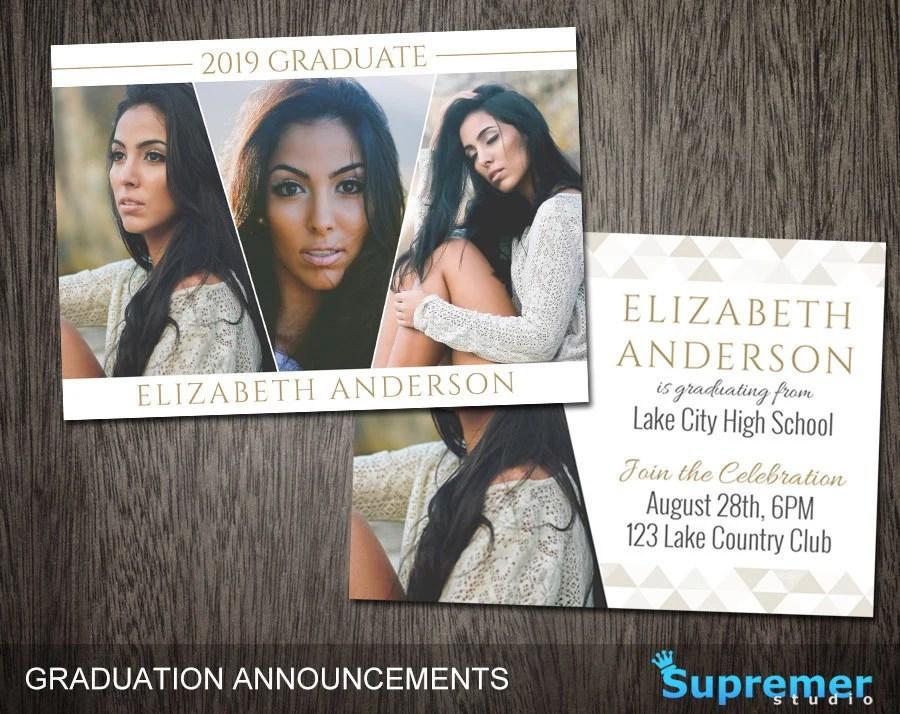 Graduation Announcement Templates Senior Graduation Etsy