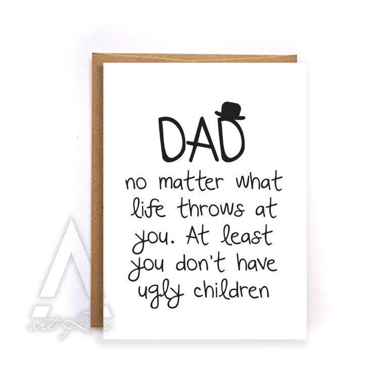 Fathers day card from kids fathers day card funny greeting Etsy - father day cards