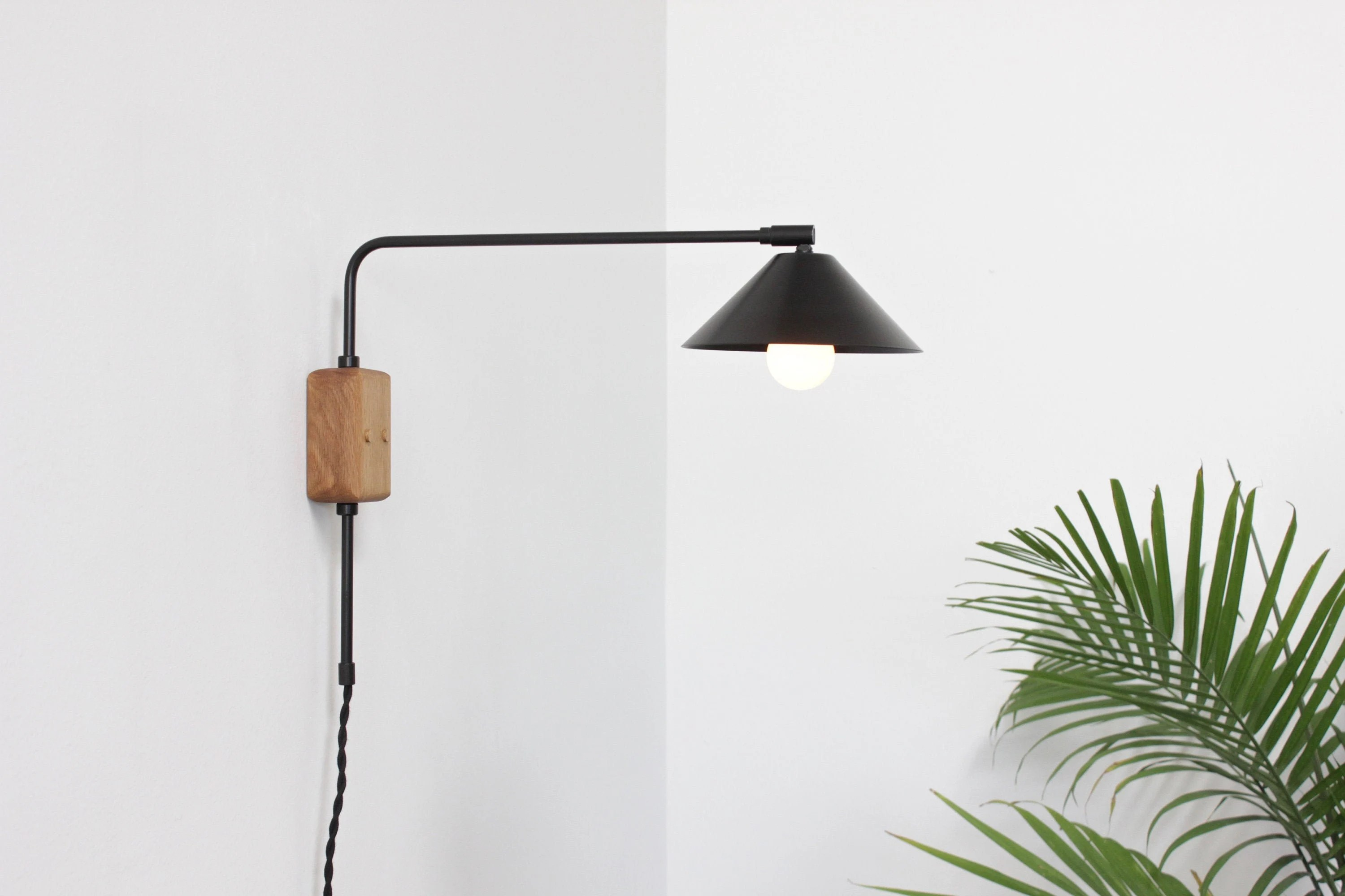 Swing Wall Lamp Plug In Sconce Swing Arm Lamp Mid Century Wall Lamp Reading Light