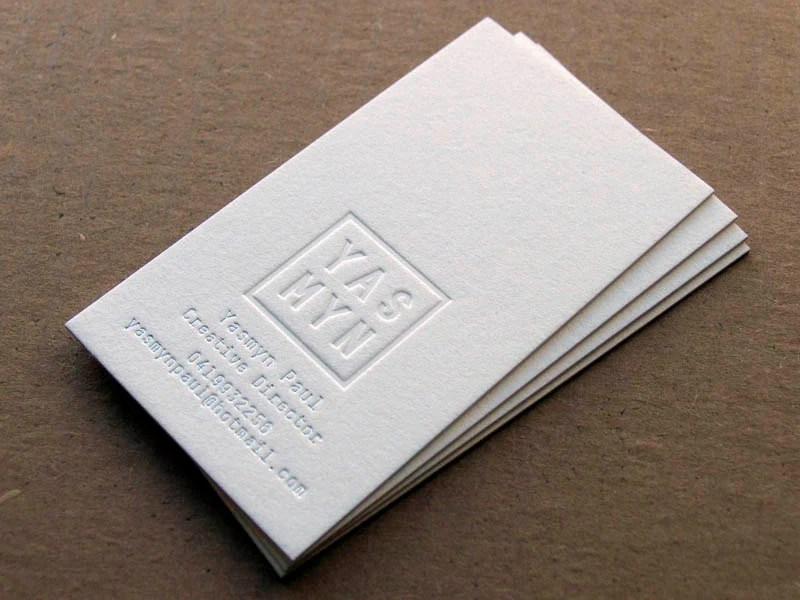 Letterpress Business Cards 1 Foil Colour Blind Impression Etsy