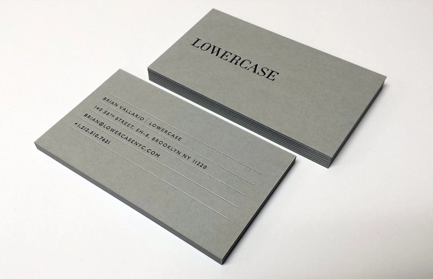 Letterpress Business Cards 700gsm Grey Paper Etsy