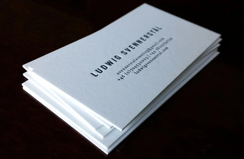 Letterpress Business Cards 1 color 1 side Crane\u0027s Etsy