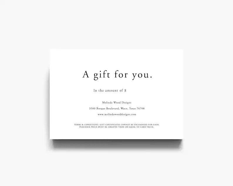 Gift Certificate Template Gift Voucher Gift Template Etsy