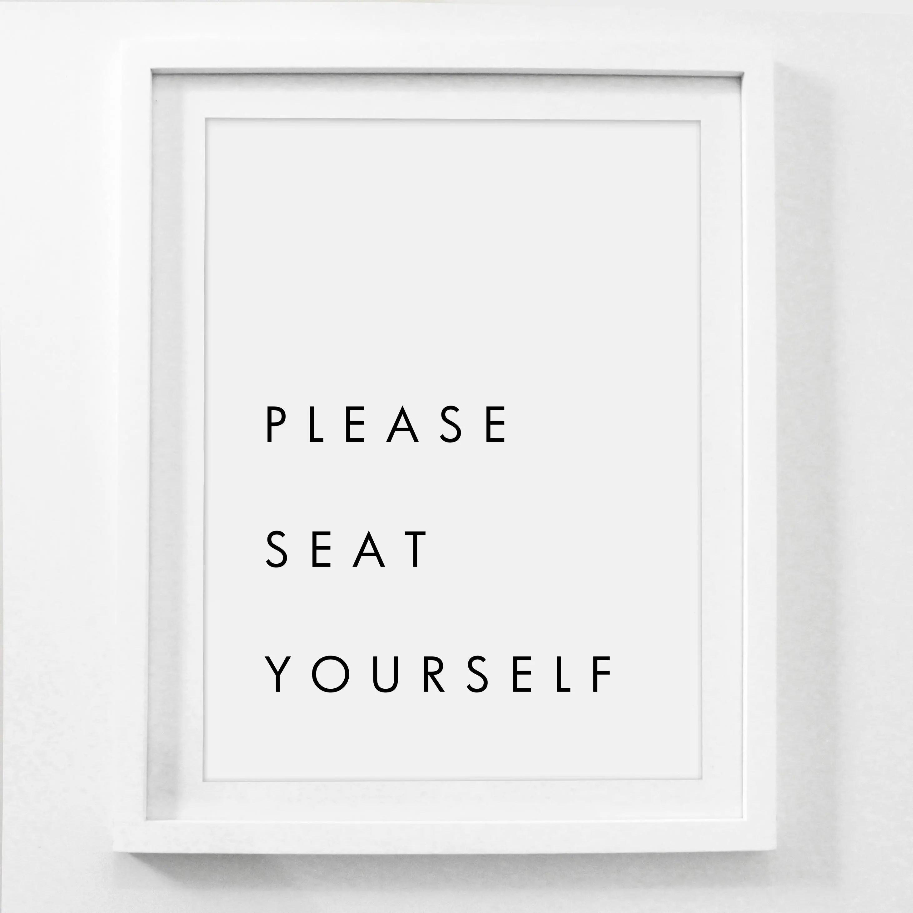 Please Seat Yourself Printable Funny Bathroom Signs Bathroom Etsy