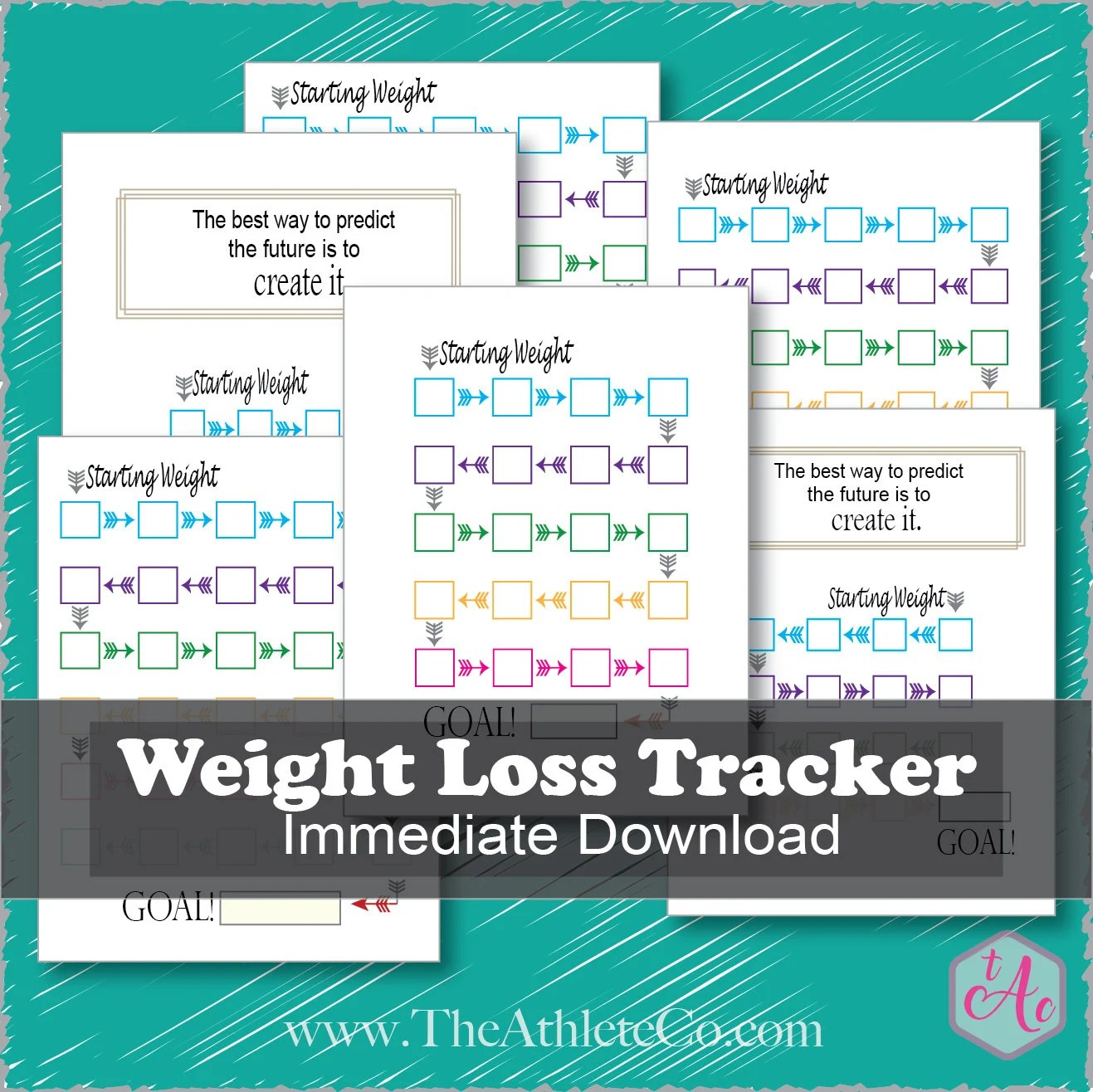 Weight Loss Log Weight Loss Tracker DIGITAL DOWNLOAD Weight Etsy