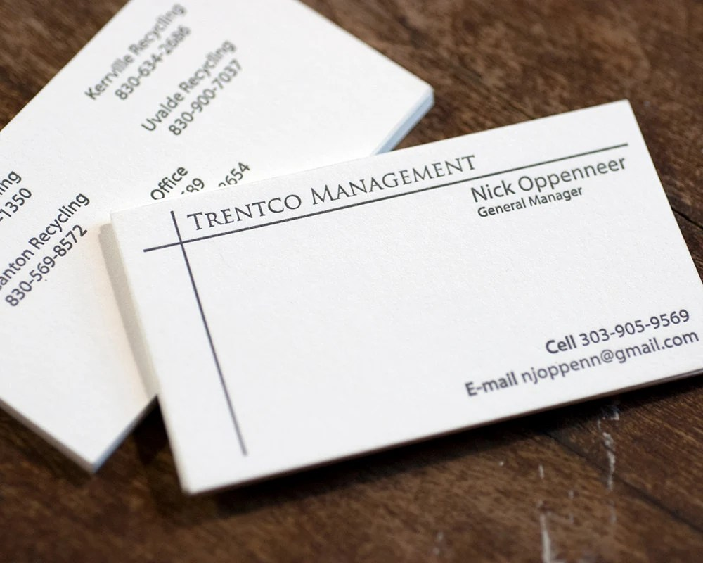 Letterpress Business Cards Two Side Letterpress Printed Etsy