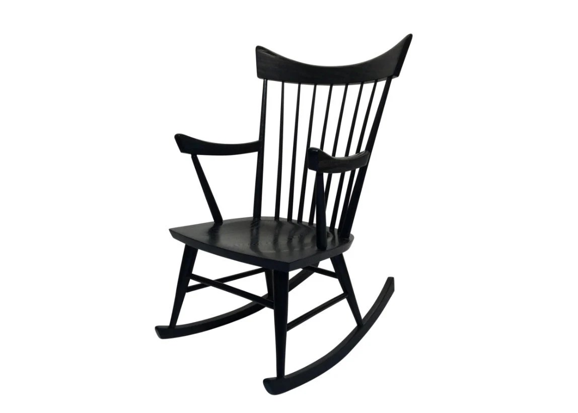 Mexican Rocking Chair Mid Century Modern Black Rocking Chair In The Style Of Edmond Spence