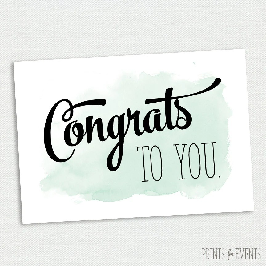 Printable Congratulations Card Graduation Card Mint and Etsy