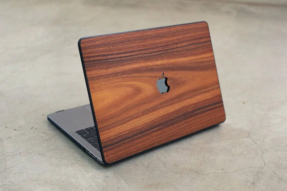 Wood MacBook Case Rosewood Hard Shell Real Wood Case for Etsy