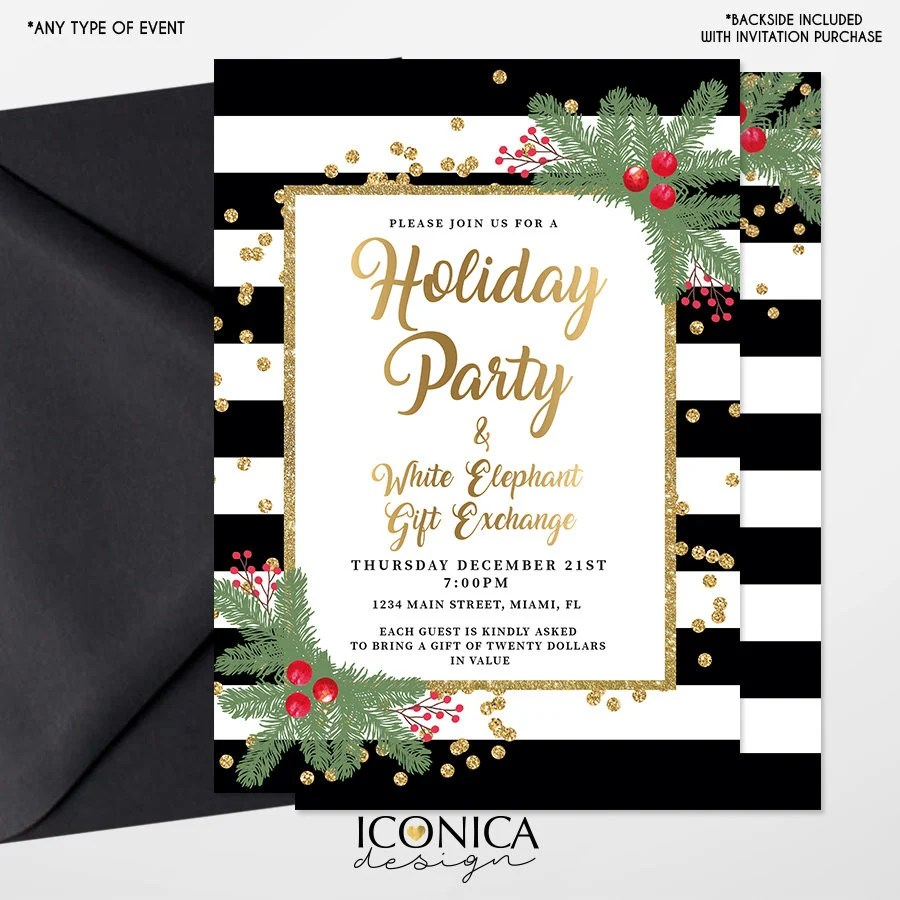 Holiday Party Invitations,Christmas Cards,Holiday Invites,White