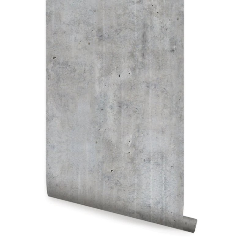 Cement Concrete Peel  Stick Fabric Wallpaper Repositionable Etsy
