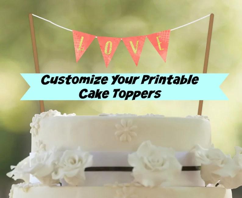 50 OFF Sale Wedding Cake Banner PRINTABLE Cake Topper Etsy