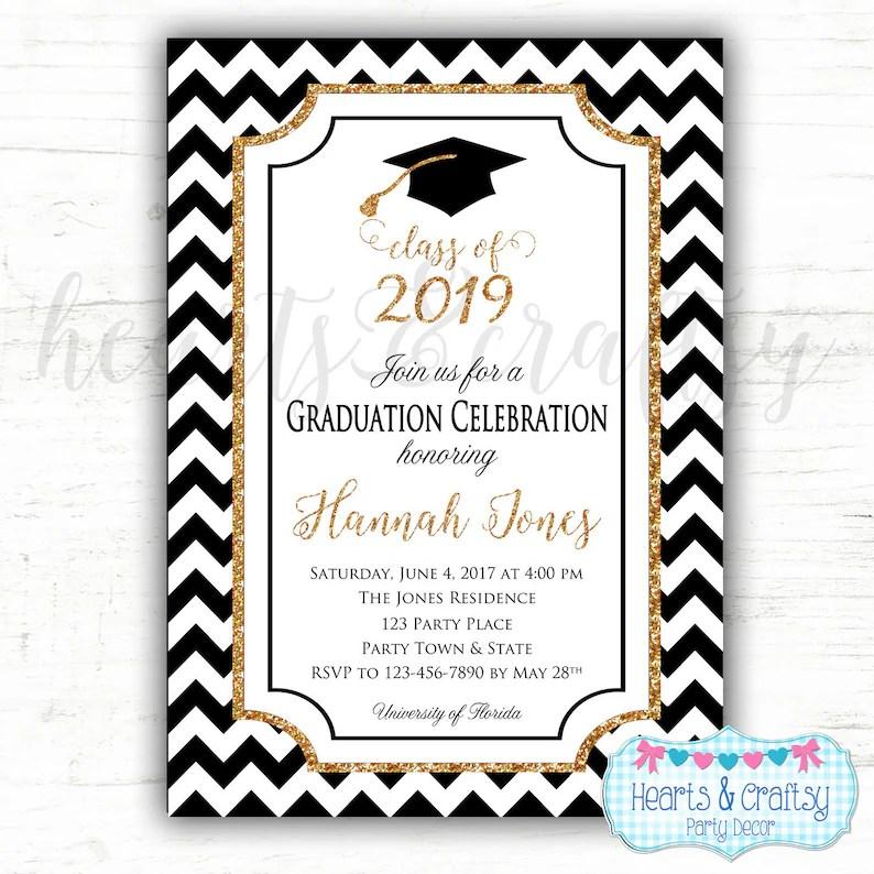 Graduation Party Invitation College Graduation Invitation Etsy