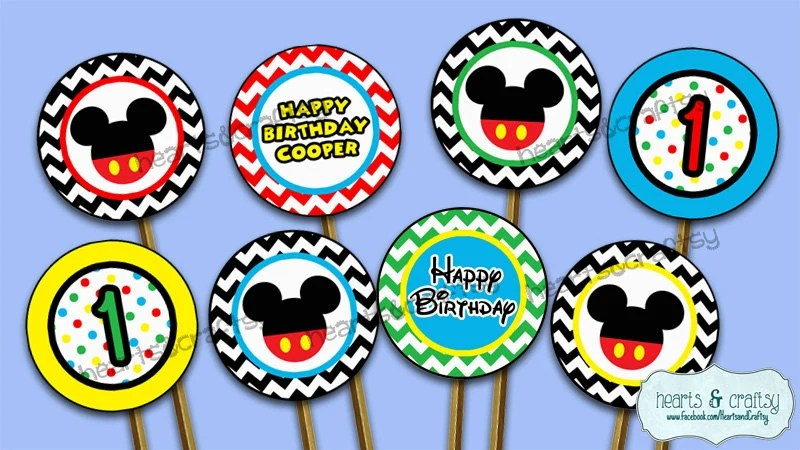 Mickey Mouse Clubhouse Party Printable Cupcake Toppers! Can also be
