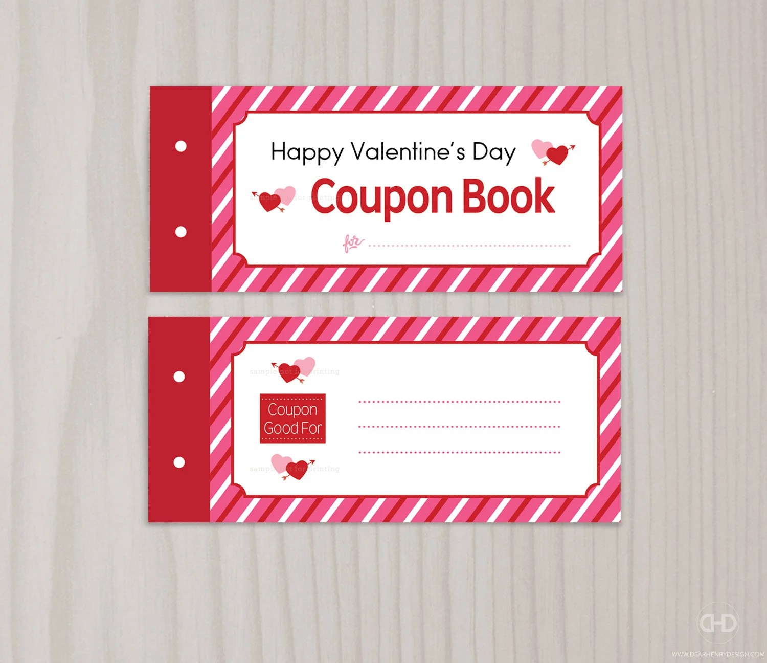Blank Printable Valentine\u0027s Day Coupon Book Love Coupons Etsy