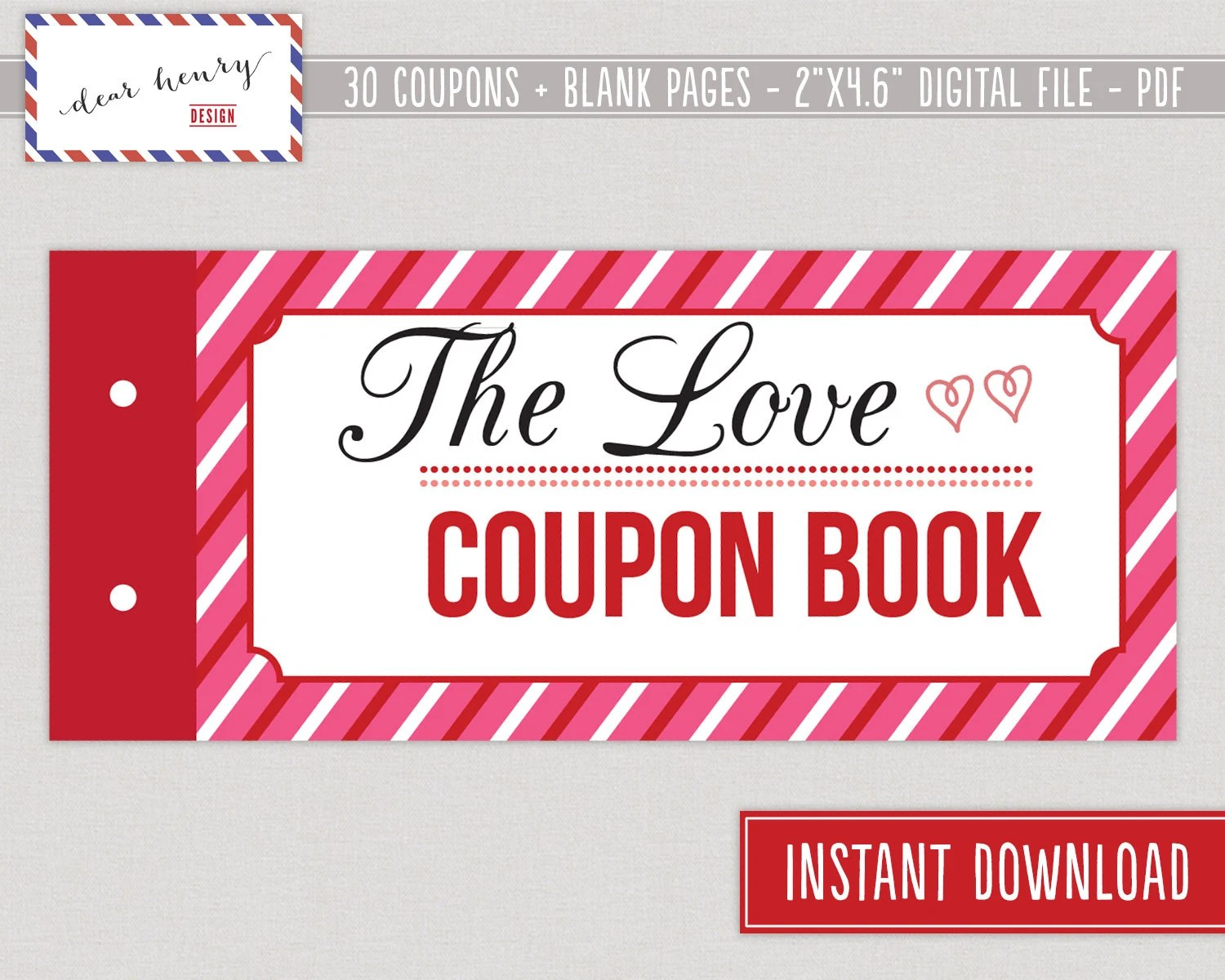Love Coupons Valentine\u0027s Day Coupon Book Romantic Etsy