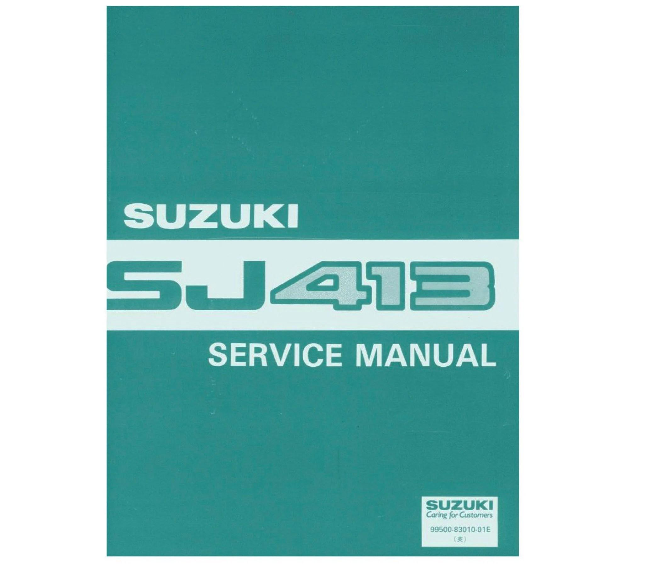 Suzuki SJ 413 Sierra Service/ Repair / Supplementary/ Wiring Etsy