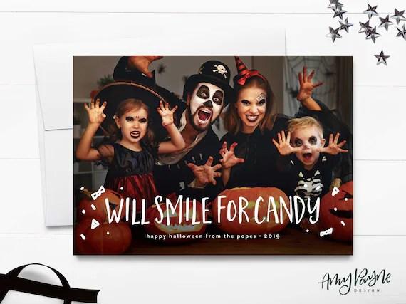 Printable Halloween Card Halloween Photo Card Funny Etsy