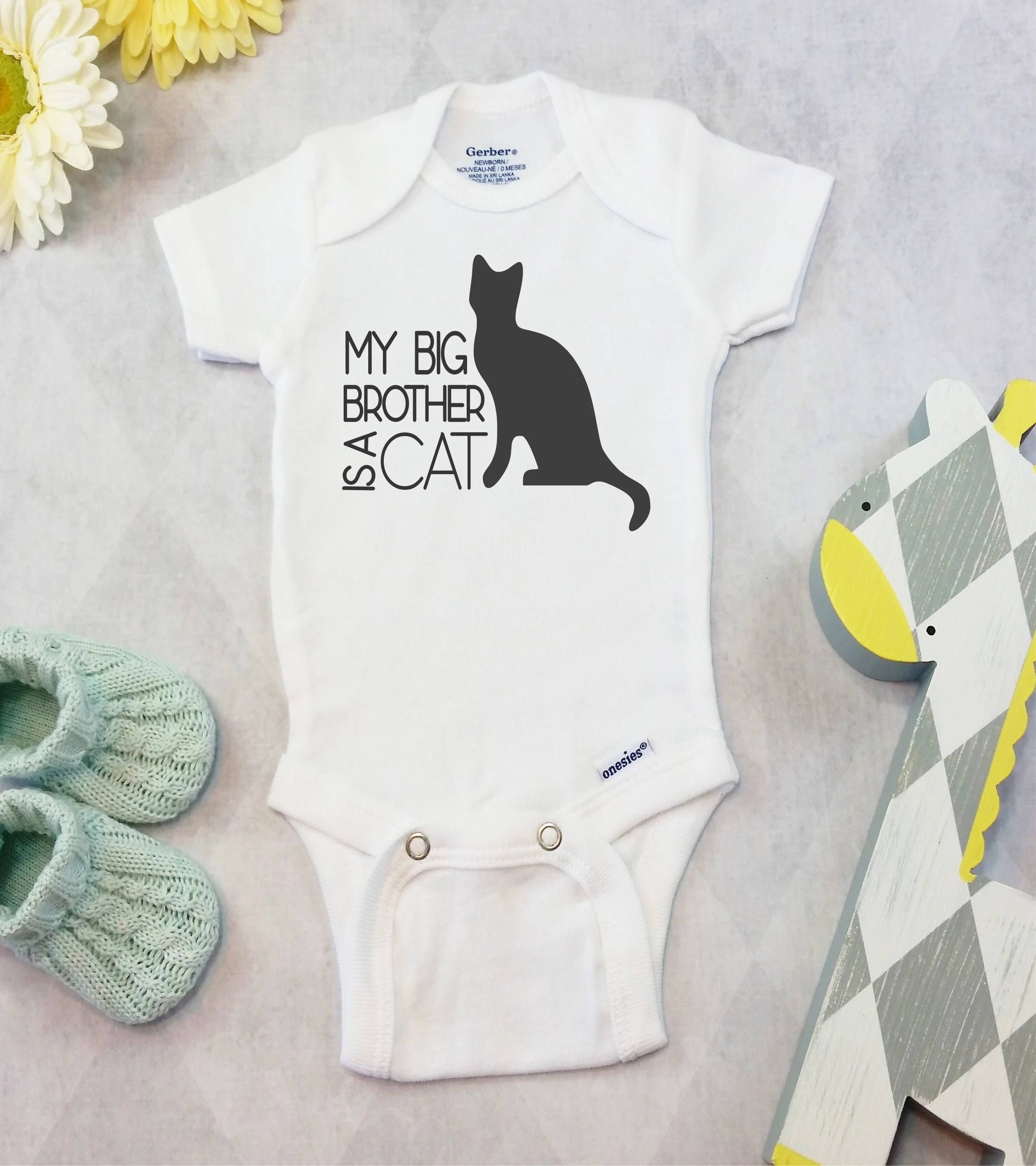 Cheap Baby Clothes Au My Big Brother Or Sister Is A Cat Onesies Brand Or Carter S Bodysuit Pet Pregnancy Announcement Funny Cat Baby Clothes Baby Boy Baby Girl