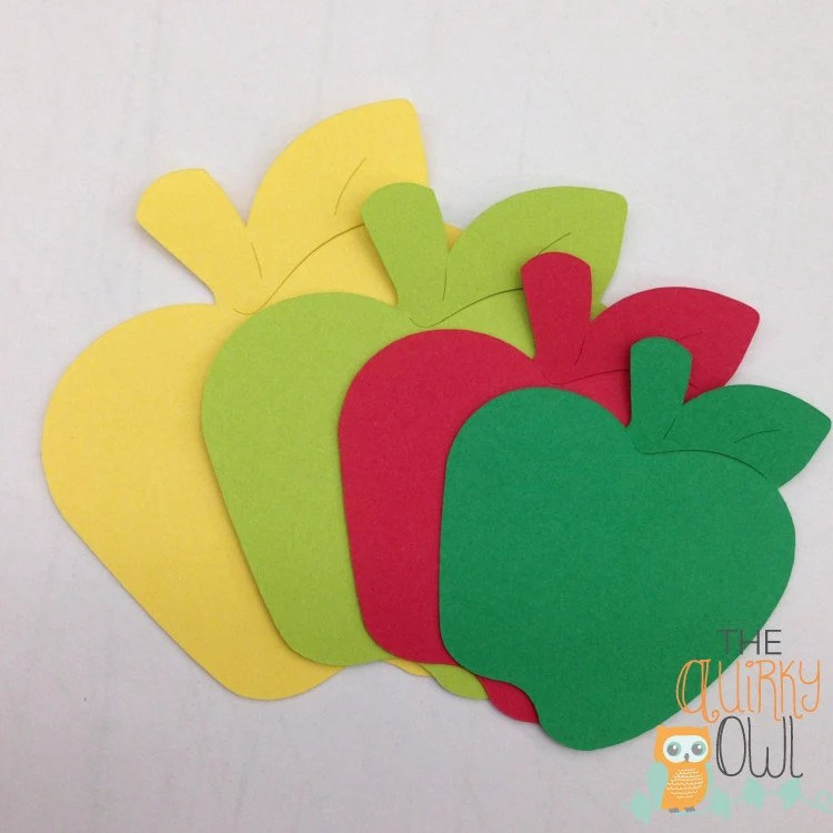 Apple Die Cuts Paper Apples Shapes Apple Cut Outs Apple Party