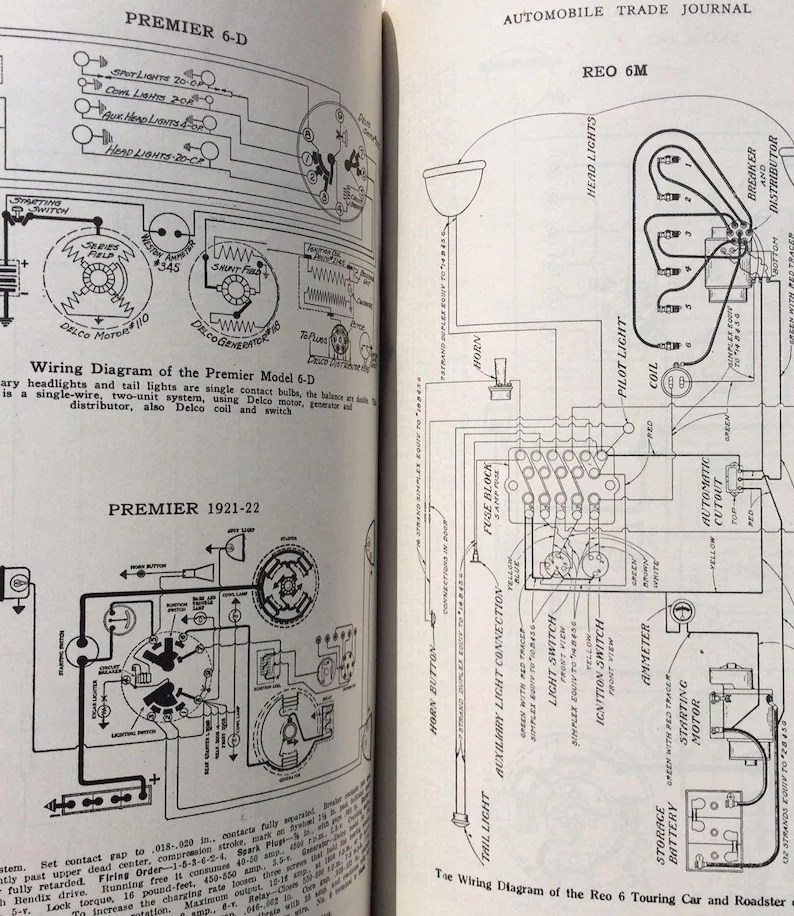 1928 AUTO WIRING DIAGRAMS for repair Vintage shop manual Etsy
