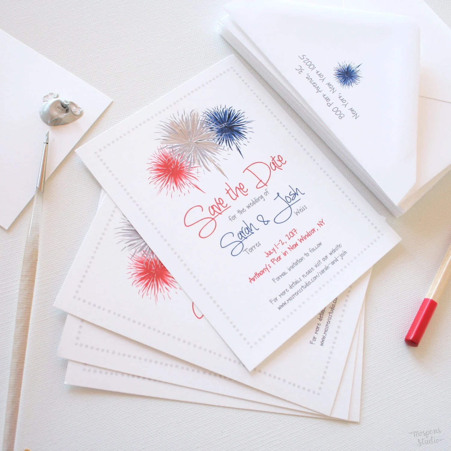 Save the Date Cards Save The Date Fourth of July Wedding Etsy