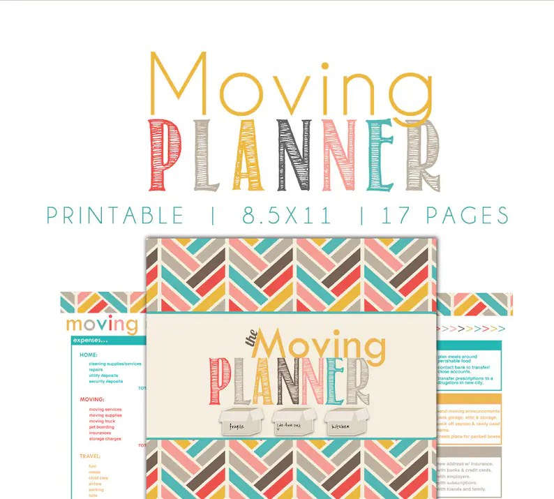 Moving Planner Moving Printable Moving Checklist Box Etsy